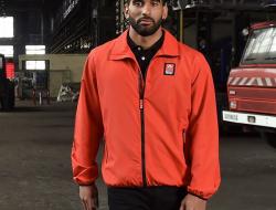 veste renault trucks rouge noir chapelier camion garage